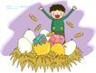 儿童科技0028,儿童科技,人物,孵化 喜悦 成果