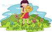 儿童科技0047,儿童科技,人物,手拿 金钥匙 开启