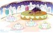 儿童线条插画0016,儿童线条插画,人物,钢琴 酒桌 艺术