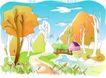 儿童线条插画0025,儿童线条插画,人物,季节 成熟 秋天