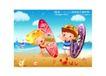 儿童运动会0008,儿童运动会,人物,海岸 怀抱 冲浪板