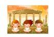 儿童运动会0009,儿童运动会,人物,宫殿 残壁 盘坐
