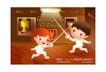 儿童运动会0012,儿童运动会,人物,地板 比剑 奖杯