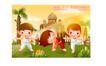 儿童运动会0019,儿童运动会,人物,体操 弯腰 表演