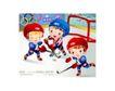 儿童运动会0031,儿童运动会,人物,头盔 球门 奥运五环