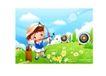儿童运动会0036,儿童运动会,人物,靶子 弓箭 箭筒