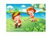 儿童运动会0047,儿童运动会,人物,河边 草坪 挥棒