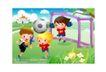 儿童运动会0050,儿童运动会,人物,足球 守门 防守