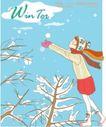 冬季小女孩0001,冬季小女孩,人物,纯情 少女 伸手