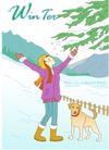 冬季小女孩0003,冬季小女孩,人物,黄狗 举手 释放