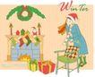 冬季小女孩0016,冬季小女孩,人物,凳子 长筒袜 靠枕