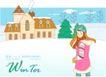冬季小女孩0020,冬季小女孩,人物,烟囱 毛衣 马夹