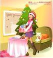 冬日恋人0001,冬日恋人,人物,收获 圣诞 礼品