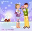 冬日恋人0010,冬日恋人,人物,献花 接受 爱意