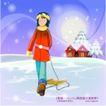 冬日恋人0027,冬日恋人,人物,雪景 寒冷 穿着