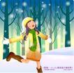 冬日恋人0029,冬日恋人,人物,奔跑 寒冷 快乐