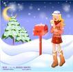 冬日恋人0030,冬日恋人,人物,祝福 月色 雪花