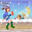 冬日恋人0047,冬日恋人,人物,寒风 吹拂 身体