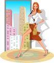 办公女郎0009,办公女郎,人物,跨步 行步 节奏