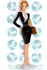 办公女郎0012,办公女郎,人物,白领 公文包 上班
