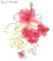 单朵艳丽配色花纹0003,单朵艳丽配色花纹,人物,花样 轮廓 模糊