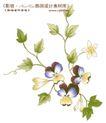 单朵艳丽配色花纹0005,单朵艳丽配色花纹,人物,草藤 枝蔓 伸长