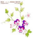 单朵艳丽配色花纹0006,单朵艳丽配色花纹,人物,绿叶 匍匐 地面
