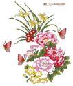 单朵艳丽配色花纹0009,单朵艳丽配色花纹,人物,蝴蝶 飞舞 花丛