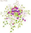 单朵艳丽配色花纹0012,单朵艳丽配色花纹,人物,花枝 碎花 醒目花瓣 绿叶四散