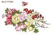 单朵艳丽配色花纹0042,单朵艳丽配色花纹,人物,吸引 蝴蝶 飞舞
