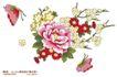 单朵艳丽配色花纹0043,单朵艳丽配色花纹,人物,牡丹 盛开 花香
