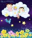 卡通儿童0003,卡通儿童,人物,白云 顶上 星星