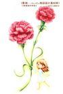 卡通儿童女孩与花0003,卡通儿童女孩与花,人物,红艳 花朵 把握