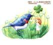 卡通儿童女孩与花0011,卡通儿童女孩与花,人物,对话 鸟儿 对话