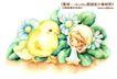 卡通儿童女孩与花0044,卡通儿童女孩与花,人物,小鸡 出壳 幼小