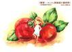 卡通儿童女孩与花0045,卡通儿童女孩与花,人物,背靠 西红柿 憧憬