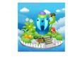 卡通风景0039,卡通风景,人物,球形房子 野蘑菇 白色栅栏