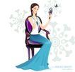 古典美女0002,古典美女,人物,举镜 梳妆 打扮
