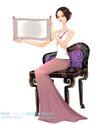 古典美女0008,古典美女,人物,展示 横幅 作品