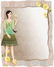 古典美女0010,古典美女,人物,相框 花饰 美女