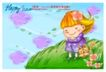 可爱儿童0007,可爱儿童,人物,微风 草坡 做梦