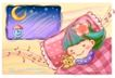 可爱儿童0014,可爱儿童,人物,晚上 床头 熟睡 音符 枕头
