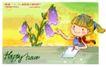 可爱儿童0026,可爱儿童,人物,触碰 花朵 作业