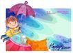 可爱儿童0028,可爱儿童,人物,雨伞 遮挡 翱翔