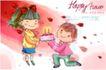 可爱儿童0029,可爱儿童,人物,蛋糕 玩伴 好朋友