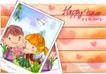 可爱儿童0034,可爱儿童,人物,亲密照 纸飞机 日期