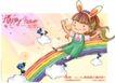 可爱儿童0042,可爱儿童,人物,滑下 彩虹 欢快