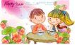 可爱儿童0045,可爱儿童,人物,圆桌 两小 无猜
