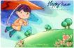可爱儿童0050,可爱儿童,人物,滑翔机 降落 俯冲