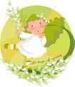 可爱小女孩0197,可爱小女孩,人物,圆球 活泼 跳舞